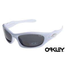 87df1b43835a8 Oakley Monster Dog Sunglasses White Frame Gray Iri.