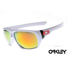 ca98989d56 Oakley Dispatch Sunglasses White Frame Fire Yellow Iridium Lens