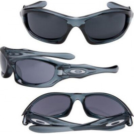 Fake Oakley monster dog Cheap asian fit Crystal Blue Grey